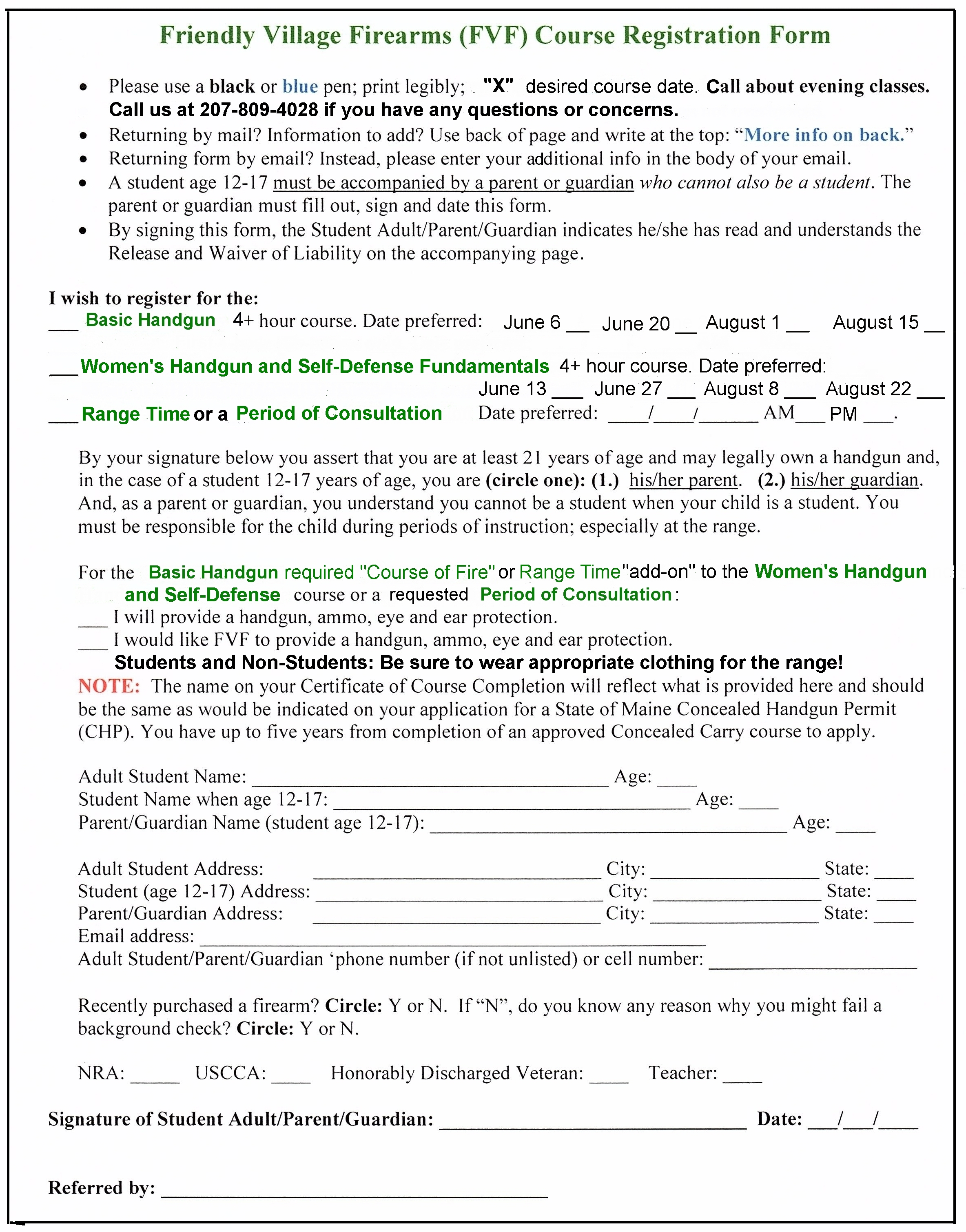 firearm background check form